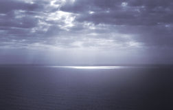Dramatic seascape, blue hue Royalty Free Stock Photos
