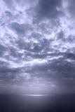 Dramatic seascape, blue hue Royalty Free Stock Image