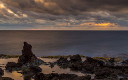 Dramatic Seascape long exposure.  Stock Photography