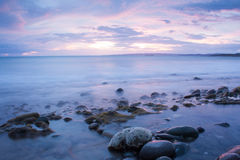 Dramatic seascape of Plum Point. Stock Photo