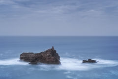 Dramatic seascape.  Portugal. Royalty Free Stock Images