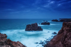 Dramatic seascape in southern Portugal. Stock Photography