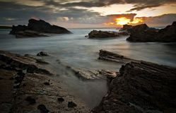 Dramatic seascape view Stock Photography