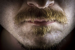 Dramatic Serious Mustache Royalty Free Stock Images