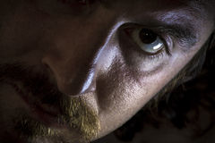 Dramatic Serious Mustache Stock Images