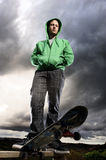 Dramatic skateboarder Royalty Free Stock Photo