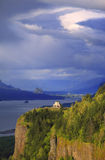 Dramatic skies on the Columbia Gorge OR. Stock Photography