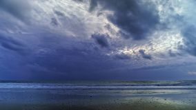Dramatic Skies over Camposoto Beach Cadiz Spain Stock Images