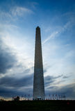 Dramatic skies over the Washington Monument Stock Photography