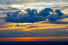 Dramatic sky. Image of the dramatic sky at sunset Royalty Free Stock Photography