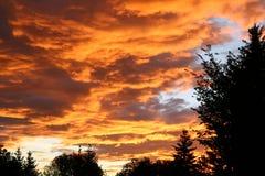 Dramatic Sky 2. A fiery orange sunrise Royalty Free Stock Photography