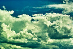 Dramatic sky. Overcast sky before a storm drama Royalty Free Stock Images