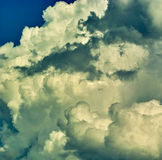 Dramatic sky. Overcast sky before a storm drama Royalty Free Stock Image