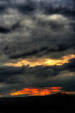 Dramatic sky. Shot of dramatic sky after sunset Royalty Free Stock Images
