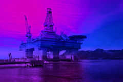 Oil Exploration Rig Royalty Free Stock Images