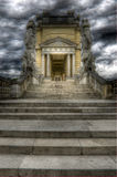 Dramatic sky above schonbrunn's Gloriette Royalty Free Stock Image