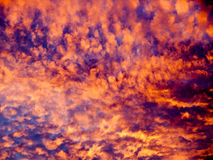 Dramatic sky. Abstract dramatic sky at sunset Stock Photo