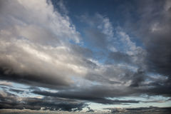 Dramatic Sky - Background of storm clouds Stock Images