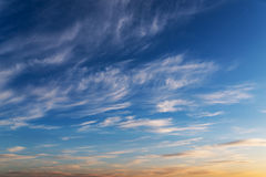Dramatic sky for background. Stock Photography