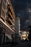 Dramatic sky in Berlin Stock Image