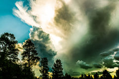 Dramatic sky that bodes storms Stock Images