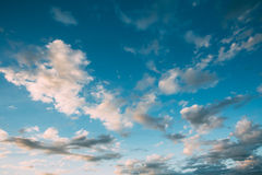 Dramatic Sky, Bright Blue And White Colors Royalty Free Stock Photos