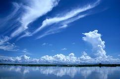 Dramatic Sky,Cambodia. Dramatic Sky and reflection in Cambodia Royalty Free Stock Photo