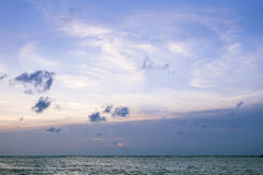 Dramatic sky with cloud over the andaman sea,sunset cloudy sky b Royalty Free Stock Photo