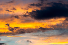 Dramatic sky with clouds Royalty Free Stock Image