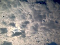 Dramatic sky, clouds background, before rain. Wallpaper stock image