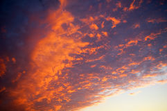 Dramatic sky clouds Stock Photo