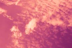 Dramatic sky, clouds and sunlight Stock Photos