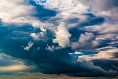 Dramatic sky and clouds at sunset Stock Images