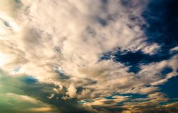 Dramatic sky and clouds at sunset Royalty Free Stock Images
