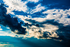 Dramatic sky and clouds at sunset Stock Photography