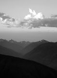 Dramatic Sky Cloudscape Over Hurricane Ridge Olympic Mountains Stock Photography