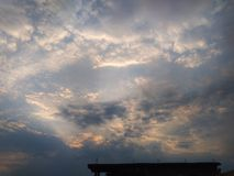 Dramatic Sky Covered With Clouds. royalty free stock images