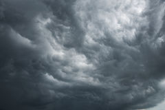 Dramatic sky. With dark clouds Stock Images