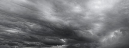 Dramatic sky. Dark ominous grey storm clouds. Dramatic sky royalty free stock image