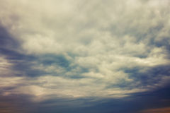 Dramatic sky with dark storm clouds. Natural background Royalty Free Stock Images
