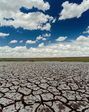 Dramatic sky and drought earth Stock Photography