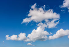 Dramatic sky with dynamic cloud arrangement. Cloudy weather background Stock Image
