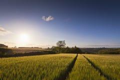 Dramatic sky, Idyllic rural landscape, Cotswolds UK Stock Photos