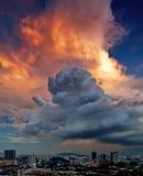 A Dramatic Sky in Kuala Lumpur Stock Image