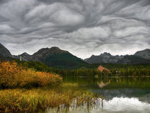 Dramatic Sky Lake Mountains Royalty Free Stock Image