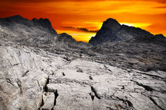 Dramatic sky landscape mountains Royalty Free Stock Photos