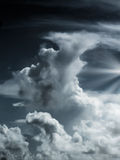 Dramatic Sky and light. Rays Royalty Free Stock Image