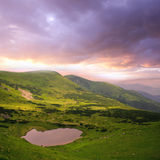 Dramatic sky in mountains Royalty Free Stock Photography