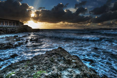 Dramatic sky over Alghero Stock Photography