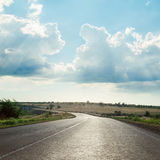 Dramatic sky over asphalt road Royalty Free Stock Images